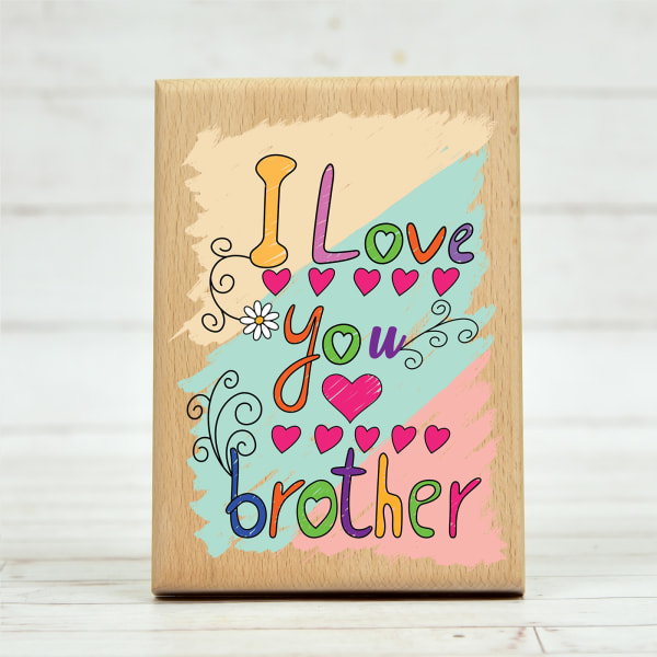 Customised Wooden Gift for Brother with Message