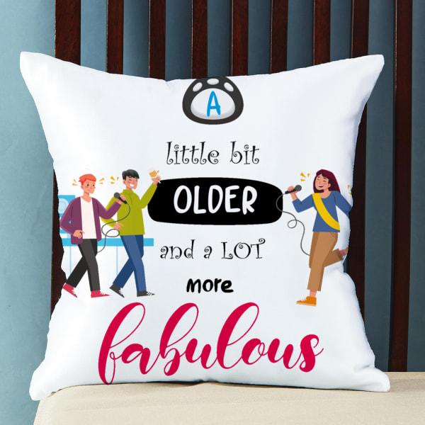 Customize Satin Pillow with Message