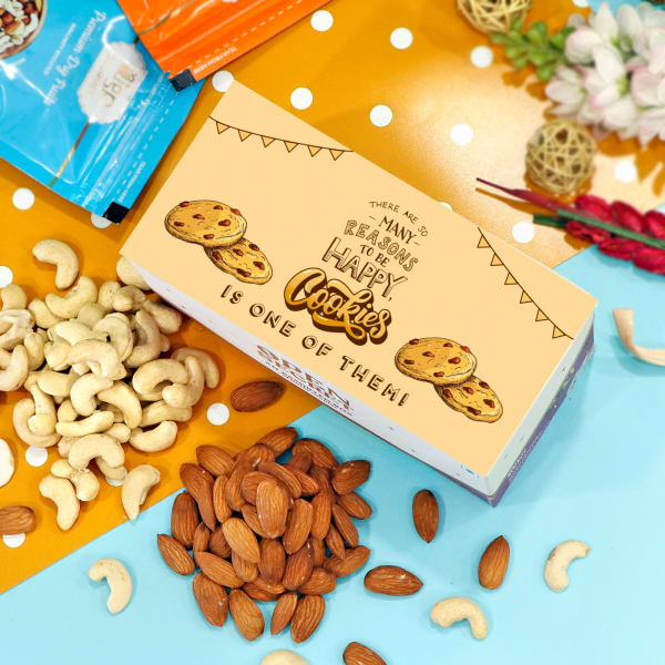 Customized Assorted Cookie Box with Cashews & Almonds