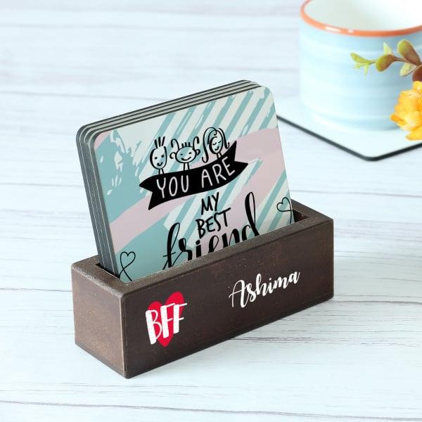 Customized BFF Coasters - Set of 4