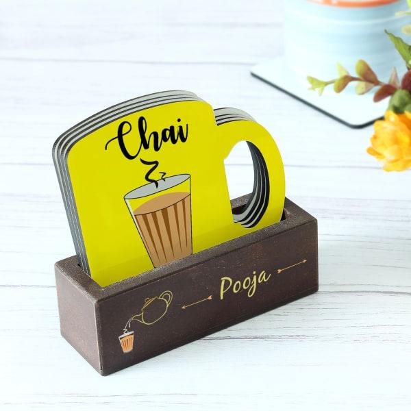Customized Chai Love Coasters - Set of 4