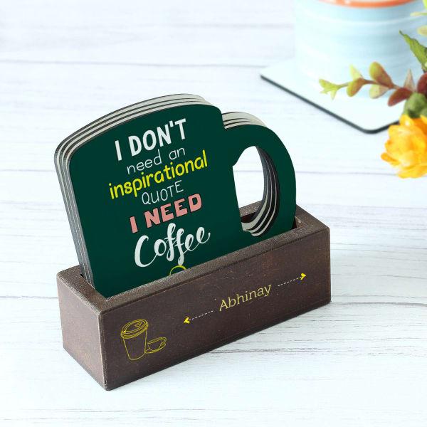 Customized Coffee Love Coasters - Set of 4