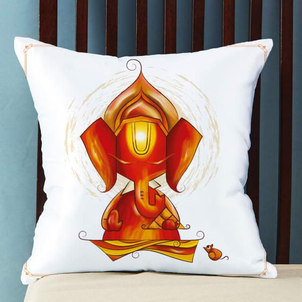 Customized Lord Ganesha Satin Pillow