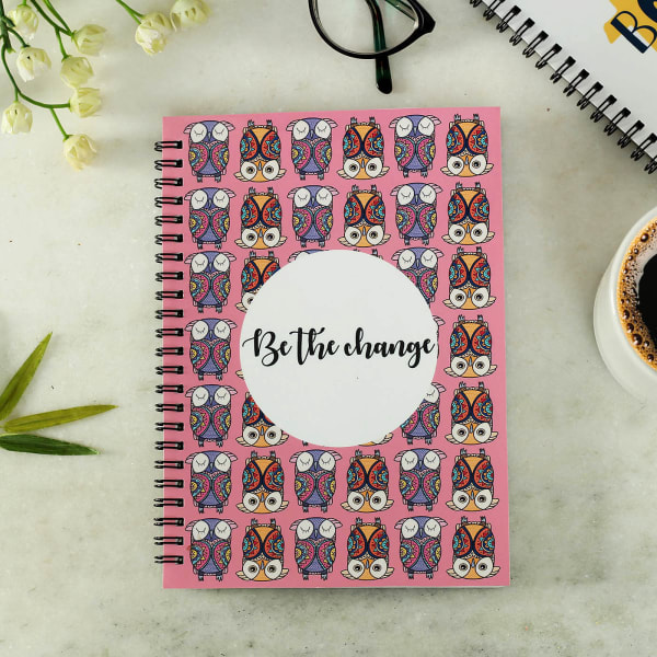 Customized Notebook Be the Change