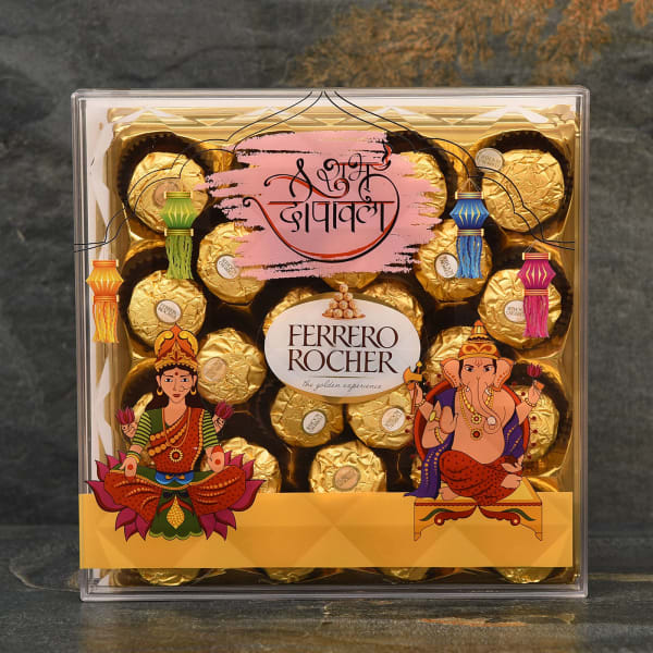 Customized Shubh Diwali Special Pack of 24Pcs Ferrero Rocher