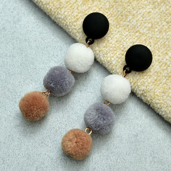 Cute and Classy Pom Pom Earrings