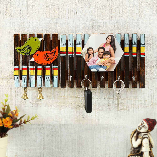 Cute Birds Personalized Key Chain Holder