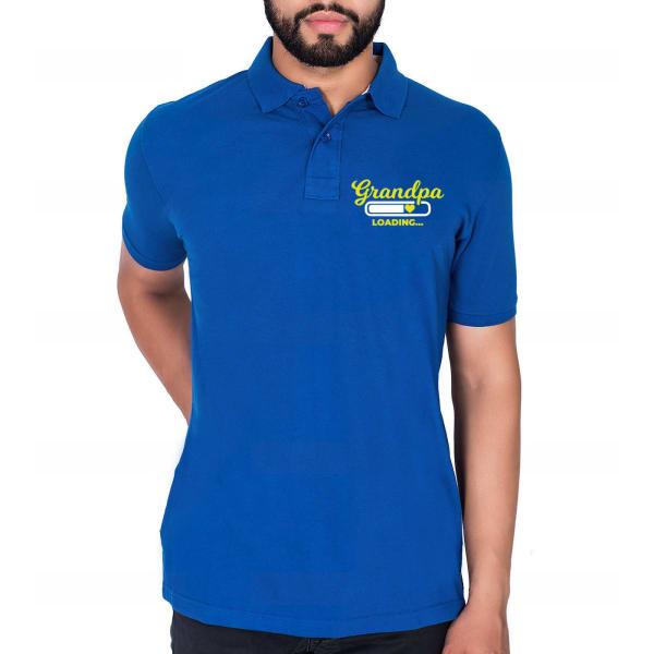 Cute Blue Cotton T Shirt For Grandpa
