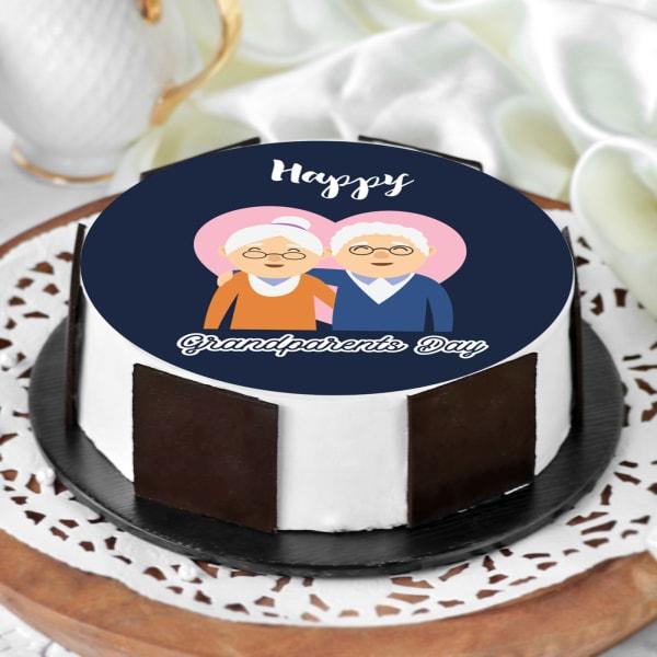 Cute Grandparents Day Cake (Half Kg)