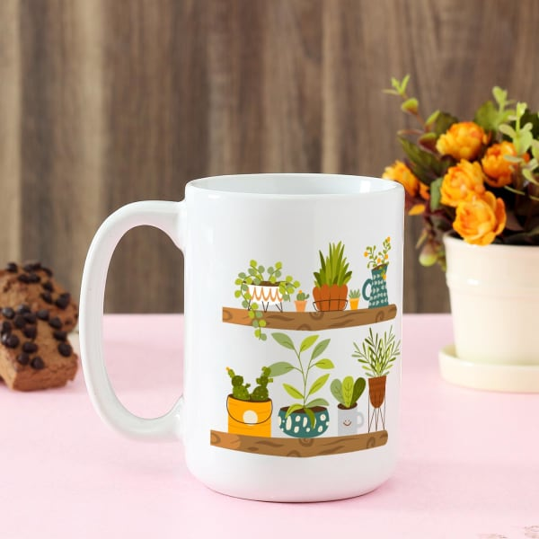 Cute Plant Lover Personalized Mug (Large)