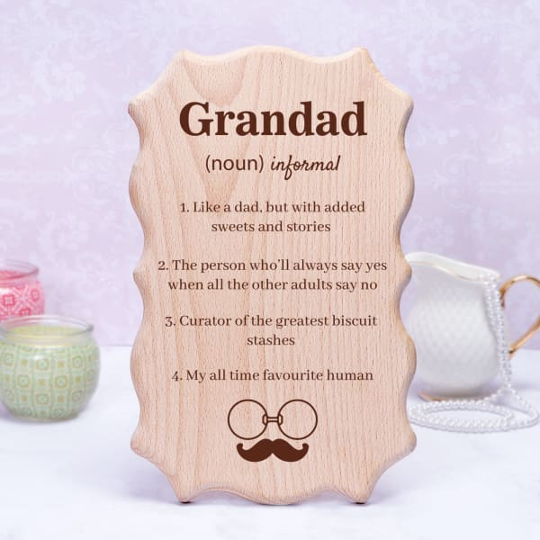 Cute Wooden Plaque For Grandfather