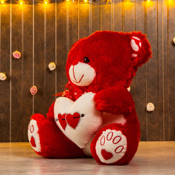 5c3961be Cutiepie Heart Shaped Red Teddy: Gift/Send Toys and Games Gifts ...