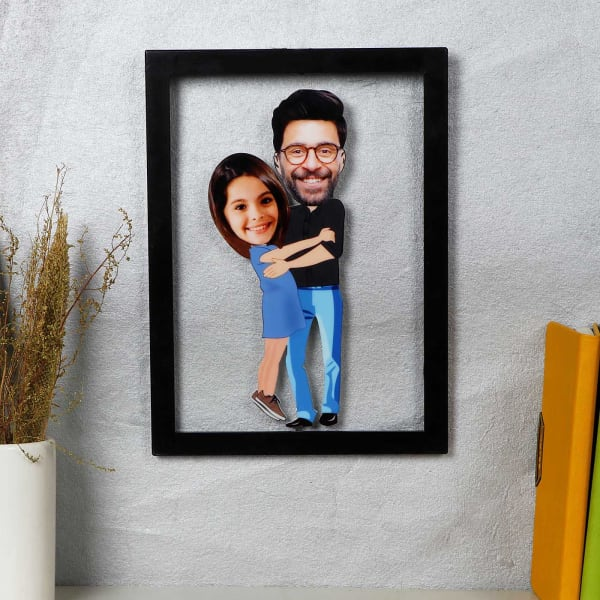 Dad And Daughter Personalized Caricature Photo Frame