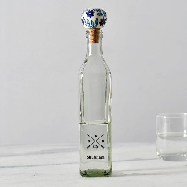 Dad Life Personalized Glass Bottle With Ceramic Lid (500 ml)
