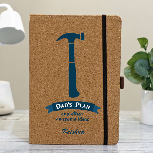 Dad's Plan Personalized Eco-Friendly Notebook