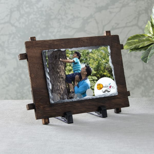 Daddy Love Personalized Stone Photo Frame
