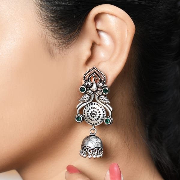 Dainty Peacock Dangler Earrings
