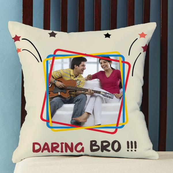 Daring Bro Personalized Satin Pillow