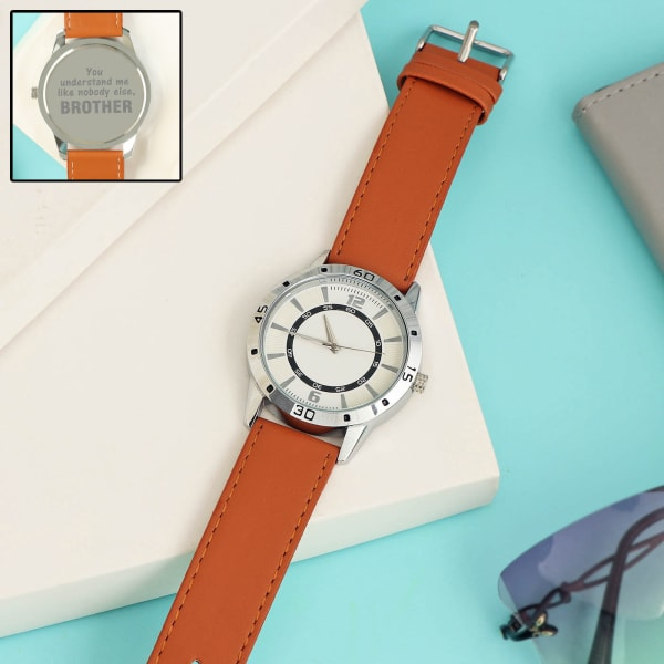 Darling Brother Brown Leather Watch