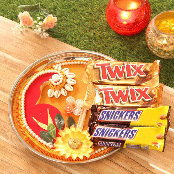 Decorated Tikka Thali with Twix & Snickers
