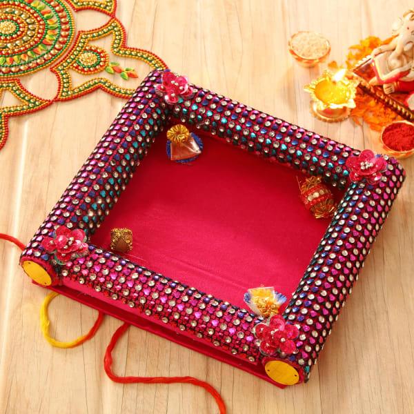 Decorative Bhaidooj Tikka Thali