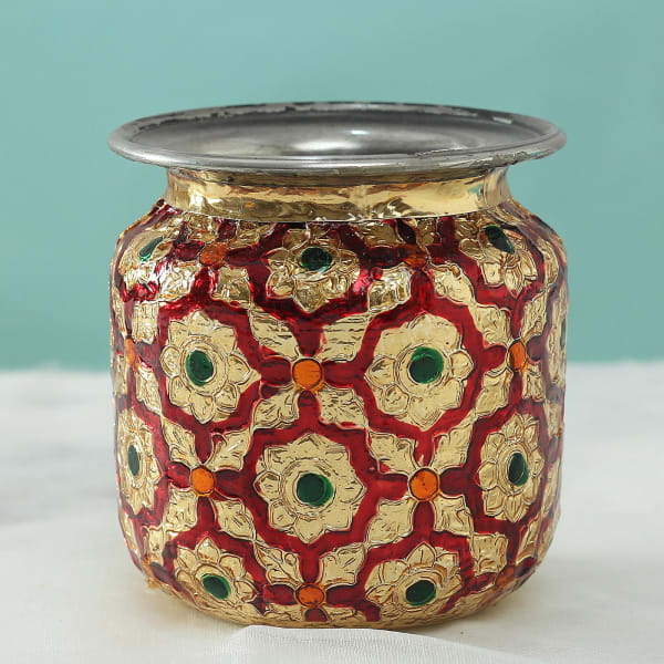 Decorative Karwa with Rajasthani Meena Work