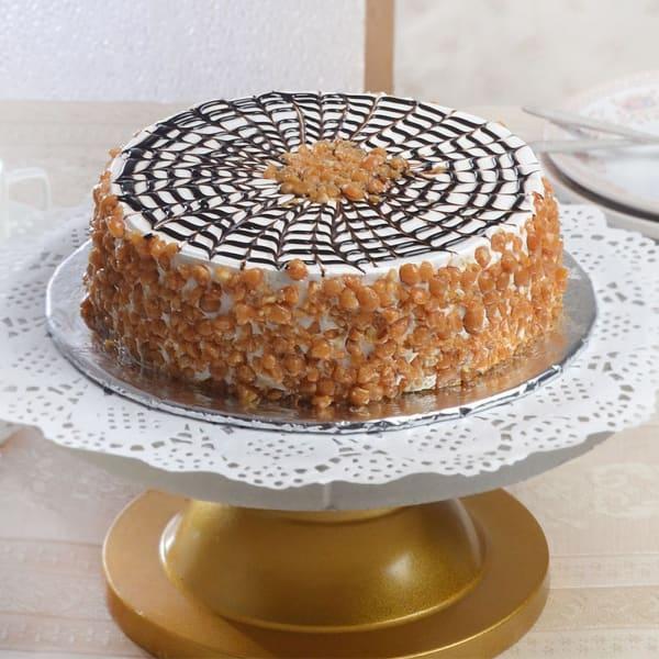 Delicious Round Butterscotch Cake (Half Kg)