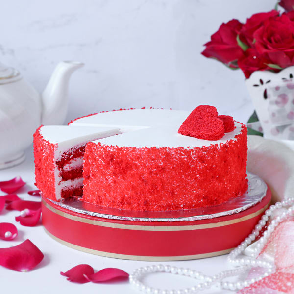 Order Butter Scotch Heart Shape Cake One Kg In Bangalore