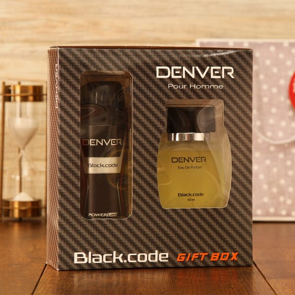 Denver Deo & Perfume Set With Leather Belt: Gift/Send