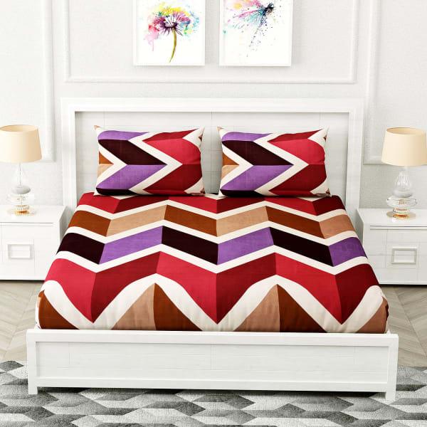 Designer Bedsheet with Chevron Patterns