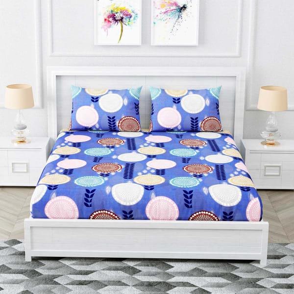 Designer Bedsheet with Circular Motifs