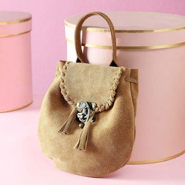 Designer Leather Bucket Bag for Women