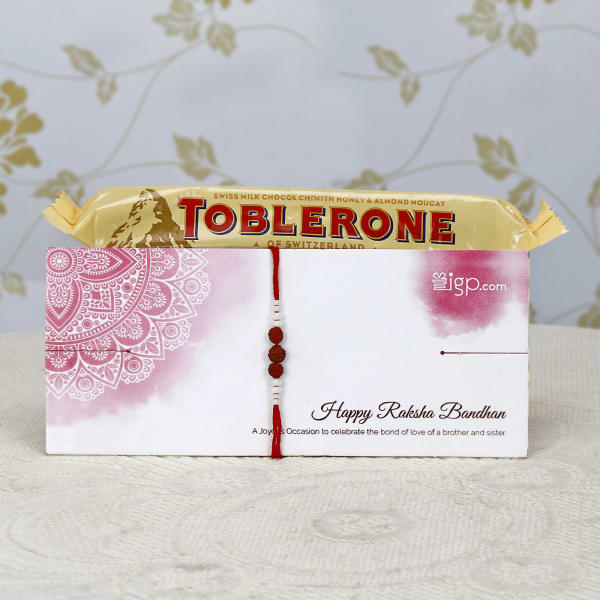 Designer Rakhi with Toblerone Chocolates