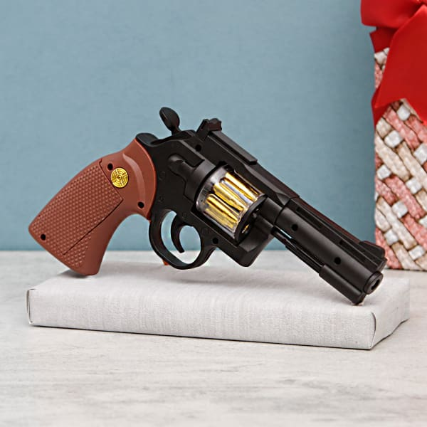 Die Cast Popular Model Cars & Firepower Gun In A Gift Box
