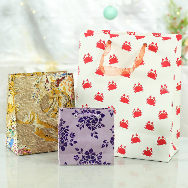 Different Sized Paper Gift Bags (Set of 3)