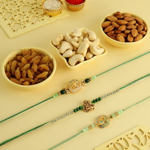 Divine Protection Rakhis With Dry Fruits