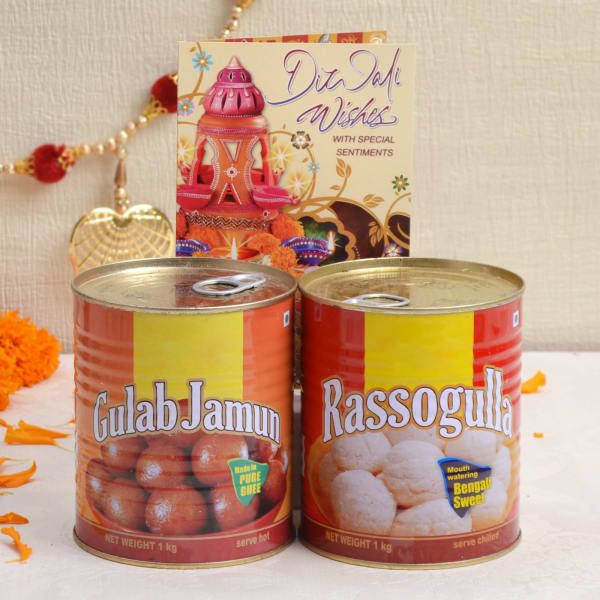 Diwali Card With Assorted Sweets