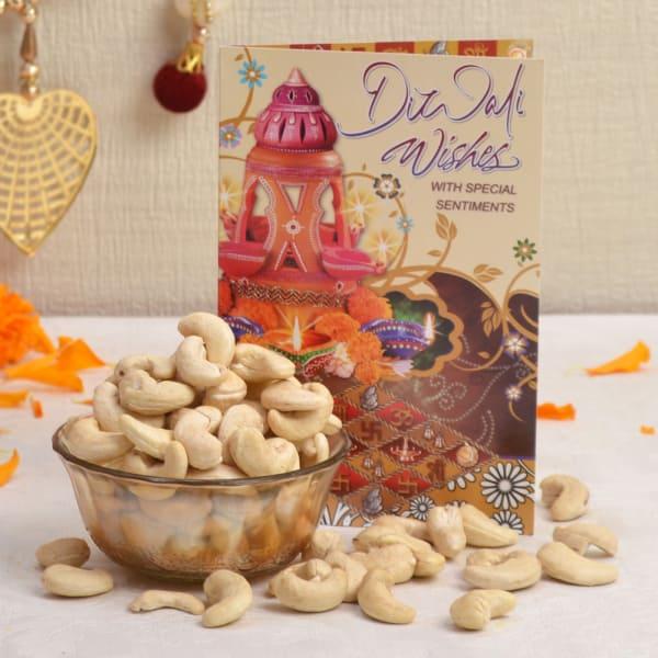 Diwali Card With Kaju 200 Gms