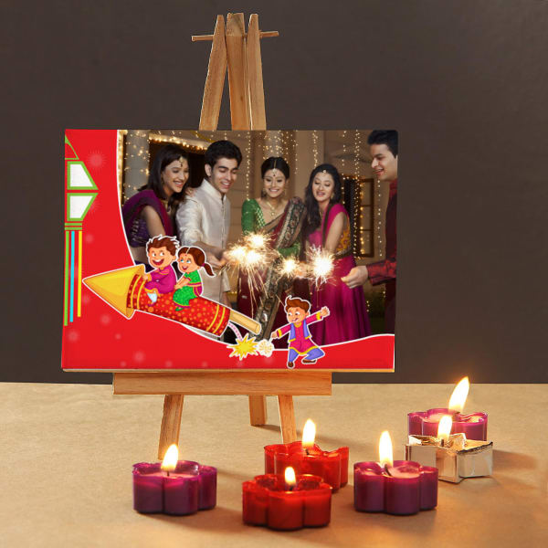 Diwali Memories Personalized Mini Canvas With Scented