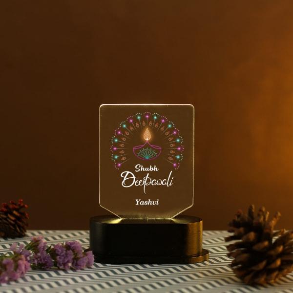 Diwali Personalized LED Lamp