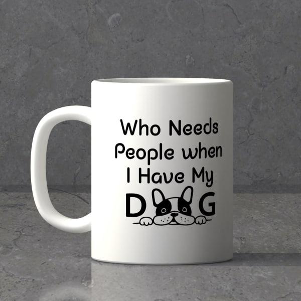Dog Love Personalized White Ceramic Mug
