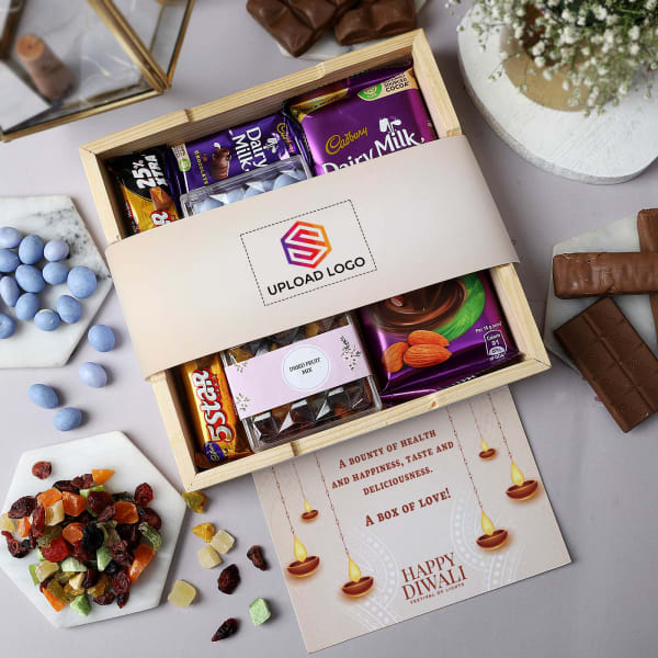Dragees And Chocolates Diwali Hamper - Customized With Logo