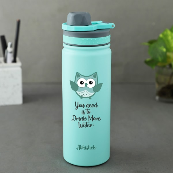 Drink More Personalized Vacuum Insulated Bottle (530 ml)