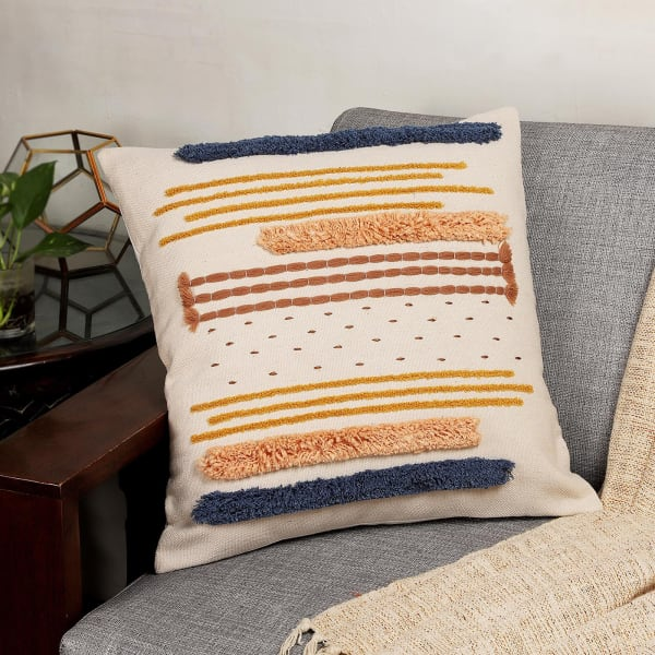 Eco-friendly Shag Work Cotton Cushion