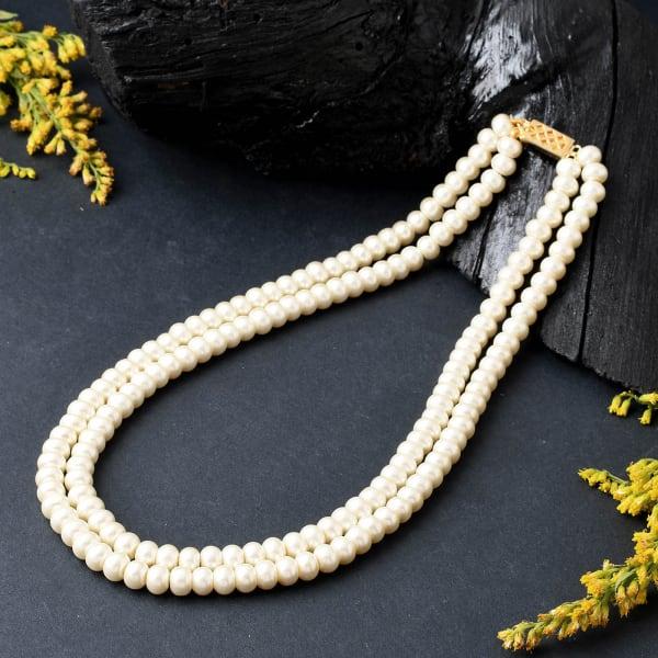 Elegant 2-Line Pearl Necklace