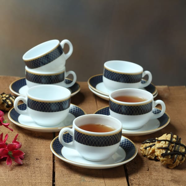 Elegant Cups and Saucers (Set of 6)