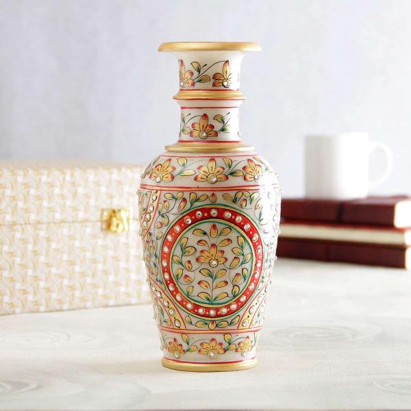 Elegant Kundan Work Vase