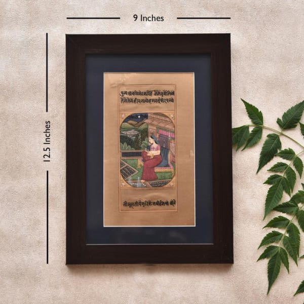 Elegant Lady in Resting Time Wooden Framed Painting