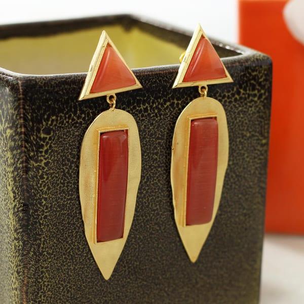 Elegant Leaf Designed Earrings