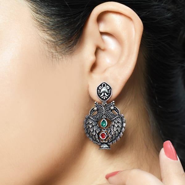 Elegant Peacock Dangler Earrings